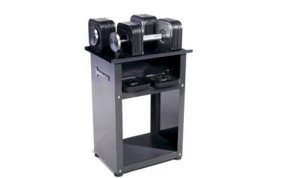 Zestaw hantli Ironmaster Quick Lock 34 kg wraz ze stojakiem